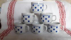 Zsolnay kék pöttyös, pici kávés bögrék