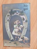Régi Újévi üdvözlőlap-1912