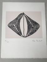 Véra Cardot (1947- ) Szita 2/50 Pátkai Emlékére Franciaországba 1987-ben készült mappából