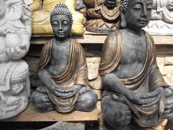 Ritka Szép 50 cm Buddha Feng Shui  Antik bronz os Minőségi Import Fagyálló műkő szobor