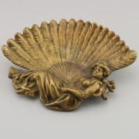 Szecessziós  Asztalközep , régi bronz asztaldísz.