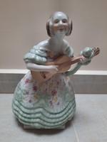 Zöld Herendi Déryné porcelán figura