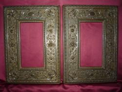 2 db.Barokk fénykép keret, fa alapon réz borítással 2104 20