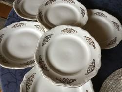 Walbrzych süteményes, sütis tányérok aranyszél és minta, 6 db (200)