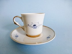 Retro,vintage lengyel aranyozott,kék virágos kávéscsésze II.