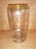 Antik dombor nyomott szódásüvegből készült fűszertartó ADRIA SZiKViZGYÁR SZEGED (4p)