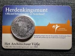 Hollandia holland építészet ezüstözött 5 Euro 2008 (id48286)