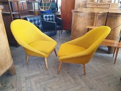Retro régi fotel mid century kagylófotel