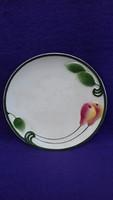 Antik osztrák majolika körtés fali tányér 26 cm