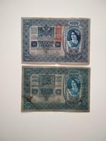 Kétféle 1000 korona 1902