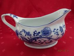 MKS Csehszlovák porcelán szószos tál, kobalt kék, hagymamintás.