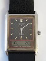 Longines Split Ana-digi Chronograph újszerű állapotban elegáns , új bőrszíjjal
