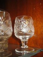 6 db kristály  pohár pálinkás