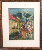 JAKOBY GYULA (1903 - 1985) - Két nő beszélget