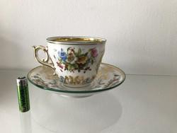 Óriási barokk mintás porcelán csésze M030