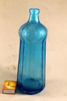 Kék sokszögletű fél literes szódásüveg 82