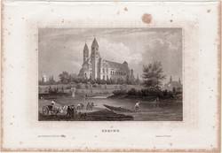 Speyer, acélmetszet 1861, Meyers Universum, eredeti, 9 x 15 cm, metszet, Németország, Rajna, dóm