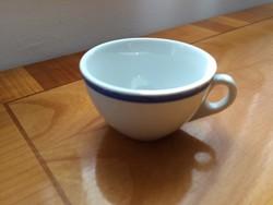 Zsolnay kávés csésze kék csíkkal