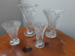 Csiszolt ólomkristály kehely váza garnitúra