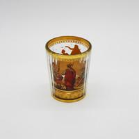 Zwischengoldglas, mitológia témájú üvegpohár- M430