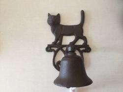 Öntöttvas  Macskás Ajtó Csengő