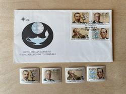 1991 Dél-afrikai Köztársaság Tudósai - emlék boríték + bélyegek