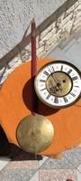 Barokk, Bécsi, Rokokó, cizellált 2 súlyos fali óra szerkezet,ingàval