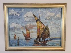 Hans Fäh - Vitorlások a tengeren