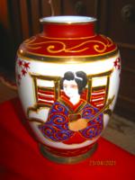 Japán kézzel festett váza