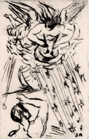Borsos Miklós - 14 x 9 cm rézkarc
