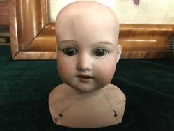 Antik Porcelán fejű baba fej - Armand Marseille 370 AM5/OX.D.E.P (1900 körül.)
