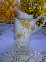 Szecessziós  kiöntő   kézzel festett porcelán kancsó