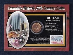 Kanada 20. századi történelme jeges búvár 1 dollár 1996 + EXPO 67 bélyeg szett (id48148)