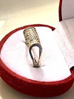Pandora fazonú  Gyönyörű antik  ezüst gyűrű 013