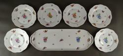 1D739 Régi Viktoria mintás Herendi porcelán süteményes készlet 1941