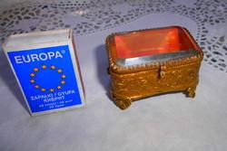 Antik ékszertartó dobozka