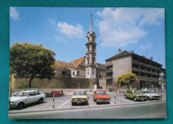 Sopron,Régi várfal a Szent György -templommal - régi képeslap 1984