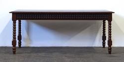 1D890 Régi csavart lábú dohányzóasztal 50 x 55 x 120 cm