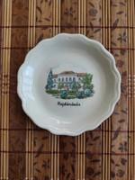Aquincum retro porcelán szuvenír - Hajdúnánás nyaralási emlék tányérka