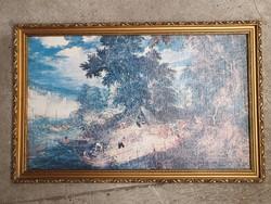 Nyomat vásznon vágható keretben