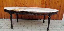 Barokk  faragott márványlapos dohányzóasztal. Alkudható!