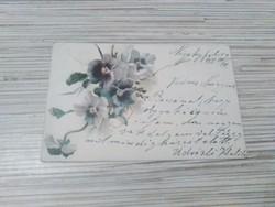 Antik Litográf Üdvözlő képeslap. (1901).