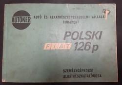 Polski Fiat 126p alkatrész katalógus