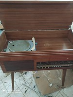 Retró lemezjátszó szekrény