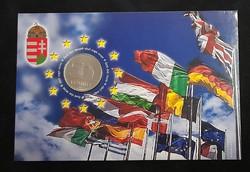 Magyarország az EU tagja. 50 Forint 2004, elsőnapi veret.