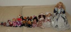 Porcelán baba és bohóc gyűjtemény