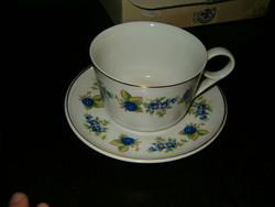 Hollóháza pohár vagy césze talán teás vagy kompótos alátéttel nagyon szép porcelán hollóházi