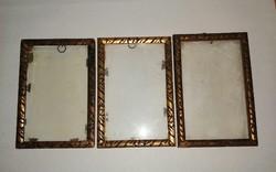 Régi üvegezett képkeret 3 db egyben 10*15 cm (n-2)