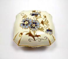 Zsolnay búzavirágos bonbonier (ZAL-BI41398)