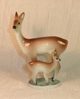 Zsolnay porcelán őzikék figura
